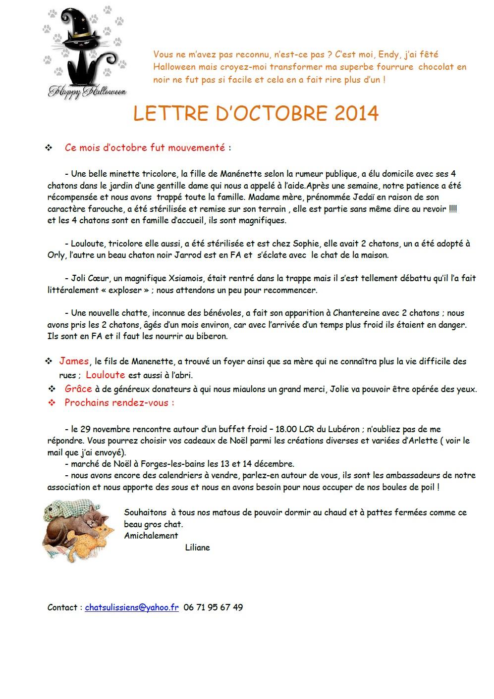 lettre octobre 2014