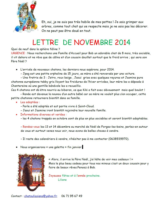 lettre novembre 2014